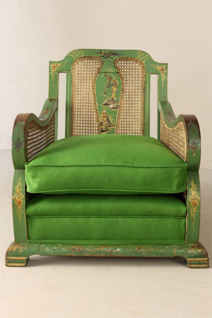 """ein-bleistift-und-radiergummi: """"  1920's English Chinoiserie Decorated Upholstered Suite. """""""