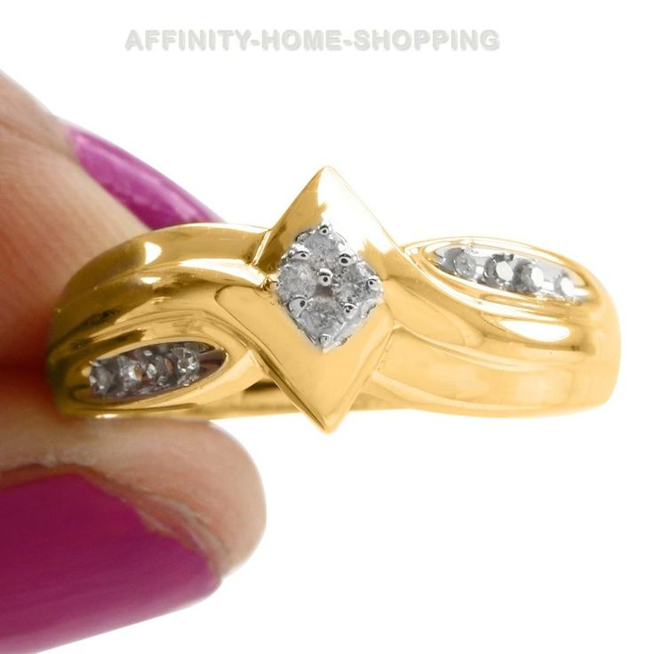0.30Ct Round Cut D/VVS1 Diamond 14k Yellow Gold Over Solitaire Promise Ring $999 #AffinityHomeShopping #Solitaire #EngagementWeddingAnniversaryMemorialDay