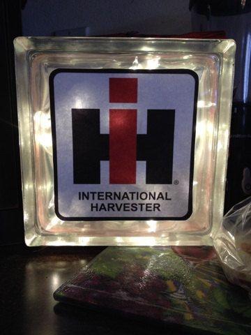 International Harvester Glass Light Block by ShesCountryCrafts, $20.95
