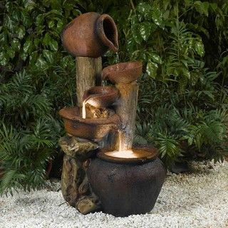 @Overstock - The Pentole Pot Water Fountain is an ideal blend of contemporary design with old-world sculpture. With its rustic charm, this water fountain will be the center of attention wherever you place it.http://www.overstock.com/Home-Garden/Pentole-Pot-Illuminated-Water-Fountain/6430420/product.html?CID=214117 CAD              320.72