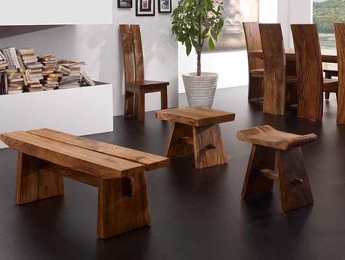 Las 25 mejores ideas sobre bancos de troncos de madera en - Taburetes de madera ...