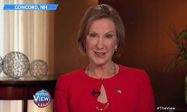 Carly and The View bury the hatchet in dispute over her demented face