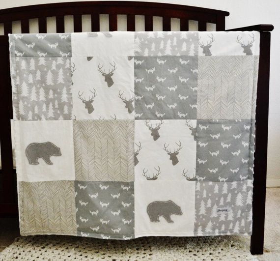 Hey, I found this really awesome Etsy listing at https://www.etsy.com/listing/217380071/woodland-blanket-baby-patchwork-quilt
