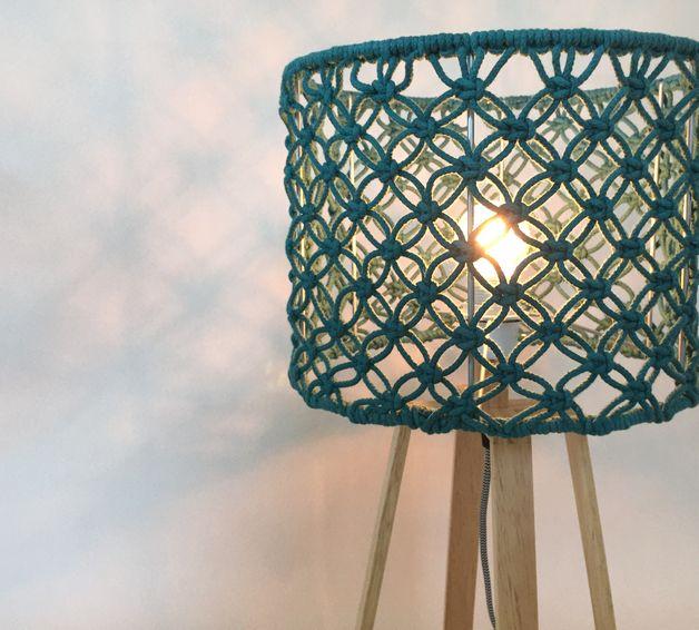 Lampenkappen - Macramé lampenkap - Een uniek product van macramademuum op DaWanda