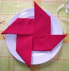 How To Make Table Napkin Designs pinwheels Napkin Fold Easy This Would Work For A Paper Napkin Too