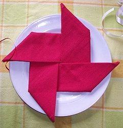 napkin folding   from http://www.celebrating-christmas.com/