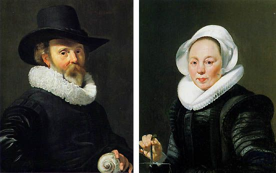 Portrait of a Man with a Nautilus Shell and Portrait of a Woman with a Balance