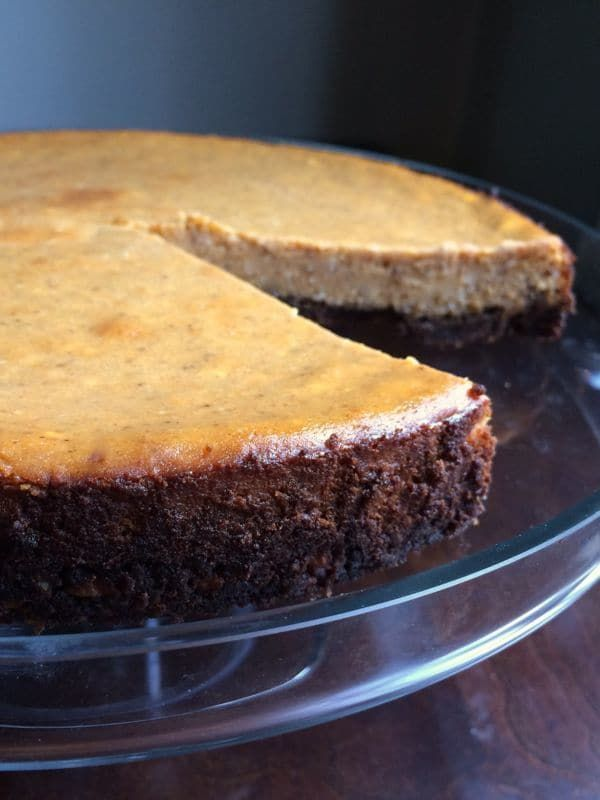 Pumpkin Cheesecake with Gingersnap Crust - The Lemon Bowl
