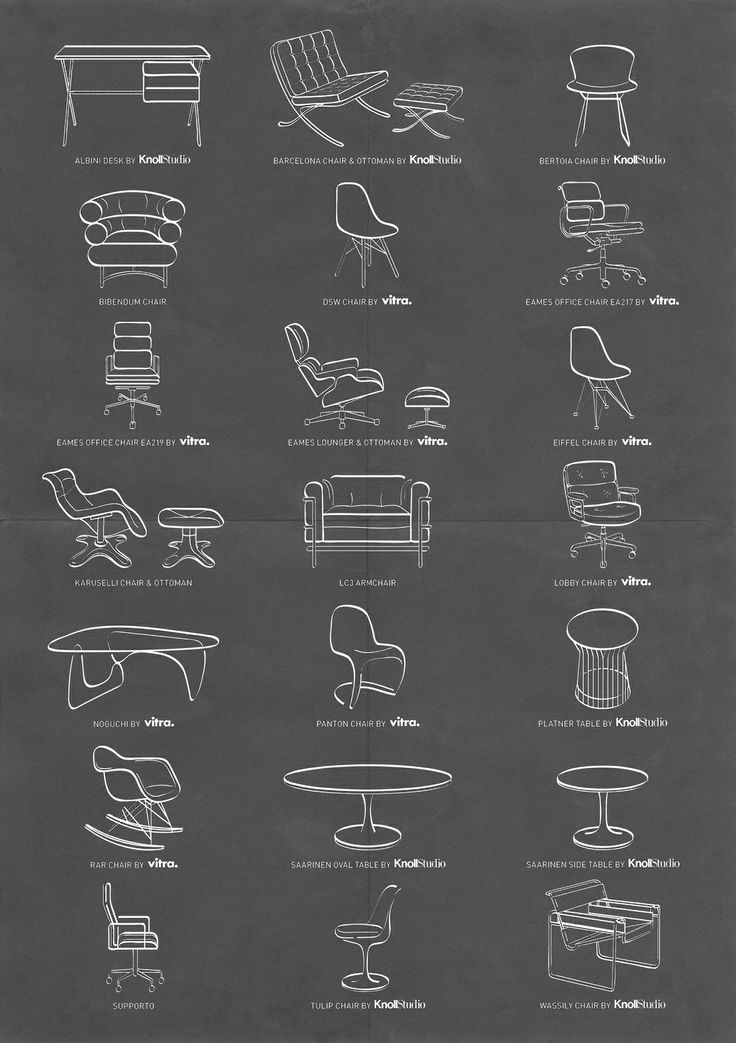 Knoll and Vitra furniture