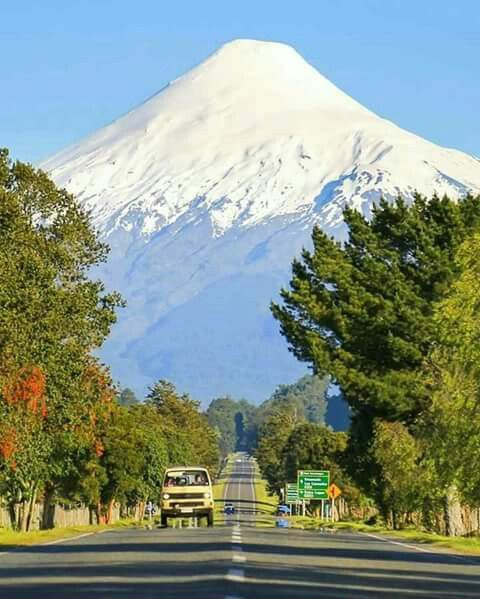 Volcan Osorno, region de los lagos. Chile