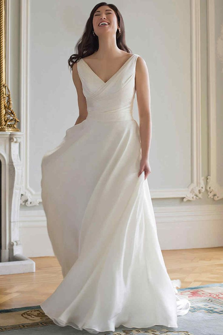 25 great ideas about fluffy wedding dress on pinterest for Wedding dresses for big chest