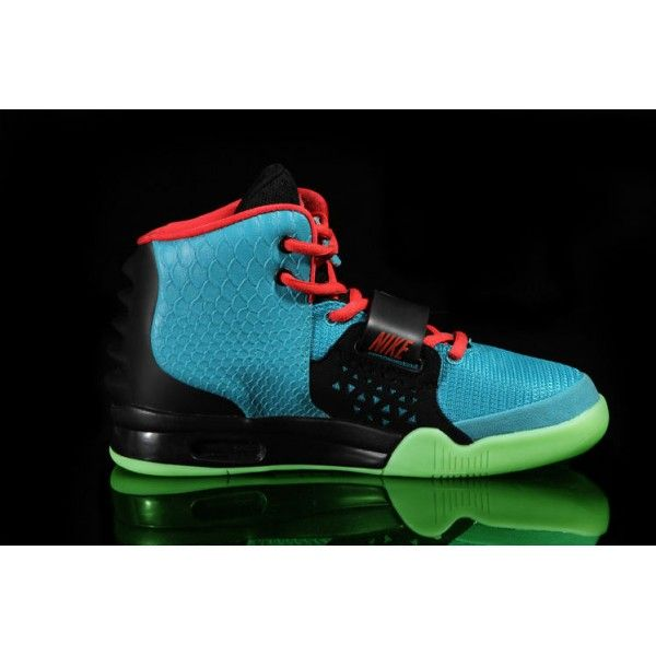 buy real nike air yeezy 2 mens south beach glow in the dark basketball shoes