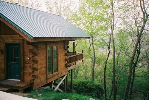 Cliffside Cabin Floor To Ceiling Windows Offer A