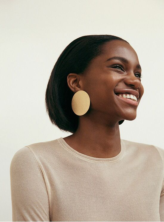 huge gold statement earring