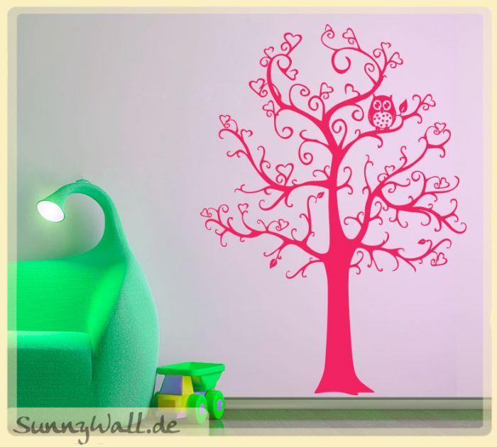 Stunning Baum Herzen Wandtattoo Eule