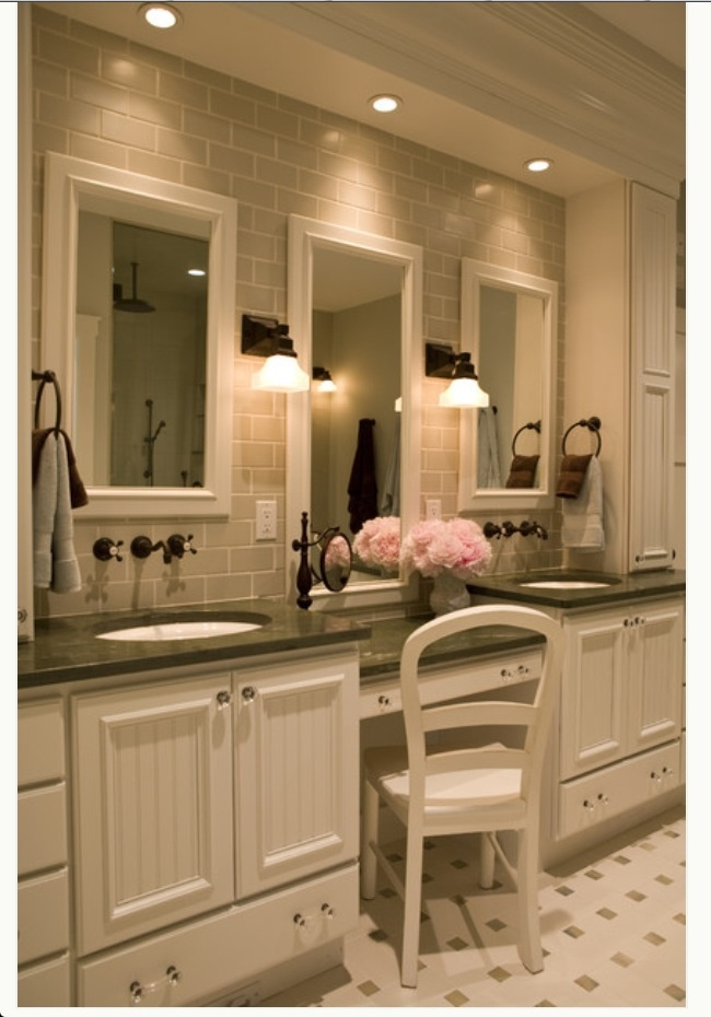 Master bath - double sinks with make-up area