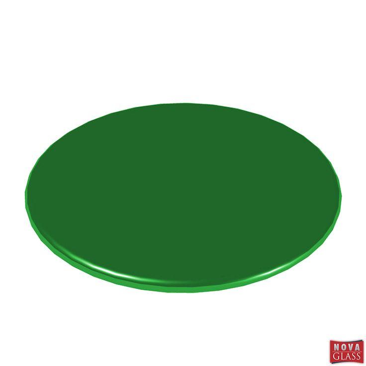 Περιστρεφόμενη βάση με πράσινο κρύσταλλο Φ30 Κωδ. BG4476G   Nova Glass e-shop