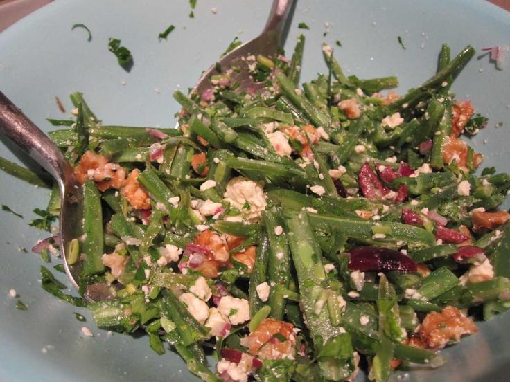 Bean, Fetta & Walnut salad