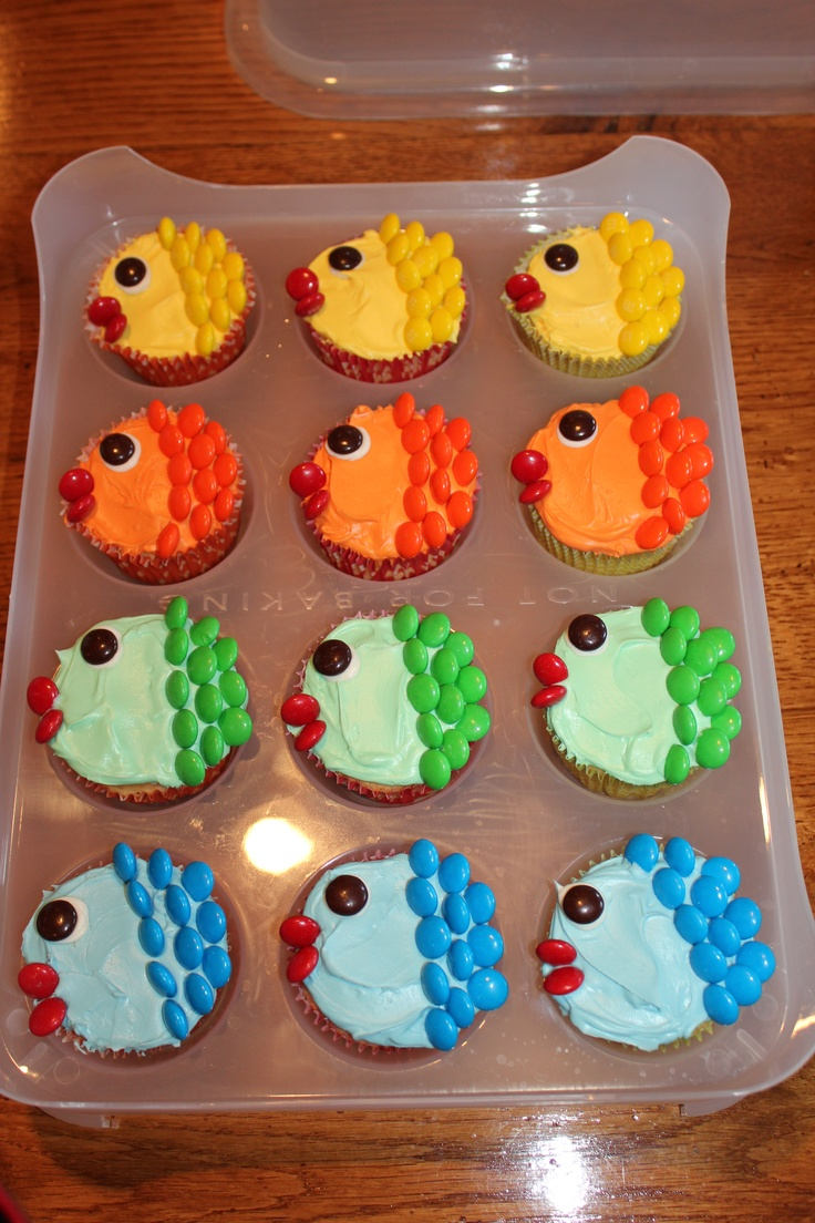 Fish M Amp M Cupcakes Cool Kid Things Pinterest Cupcake