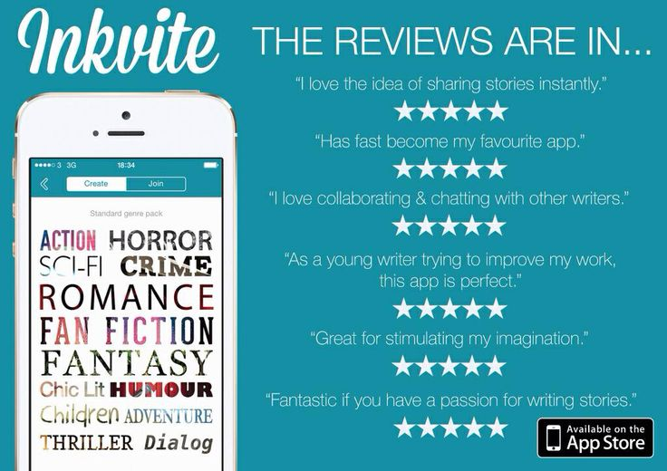 Inkvite. The reviews are in... Download Inkvite free from the App Store https://itunes.apple.com/gb/app/inkvite-social-story-writing/id613185833?mt=8 #writing #stories #apps #creativity #social