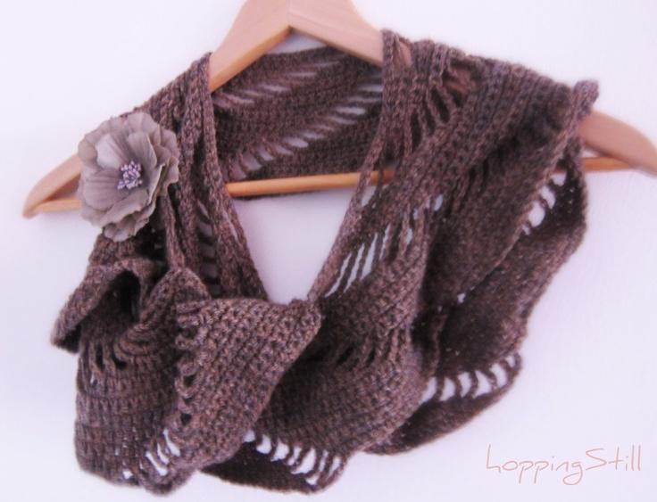 Rapunzel Infinity Scarf Crochet Pattern Free : hoppingStill CrochetHolic - HilariaFina Pinterest