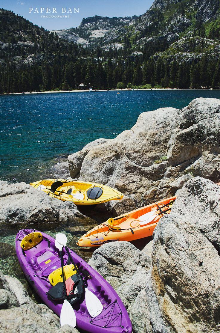 Kayaking in lake tahoes emerald bay