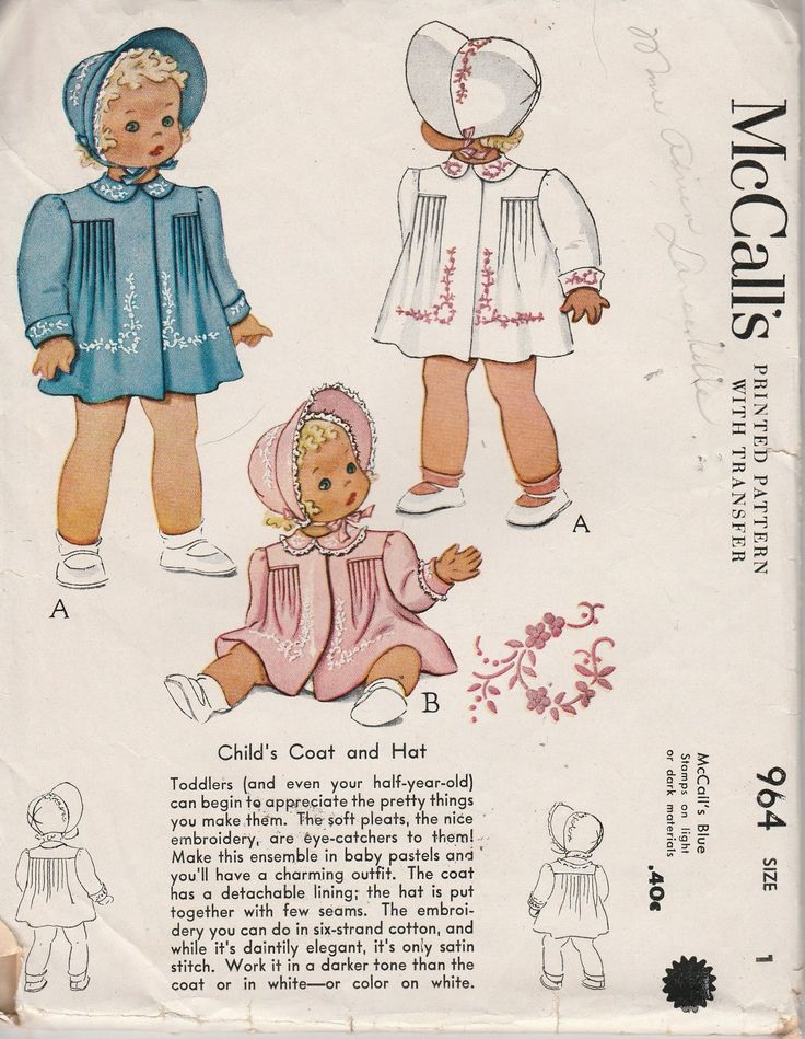 62 best Vintage Sewing Patterns 1940\'s & 1950\'s - Girls images on ...