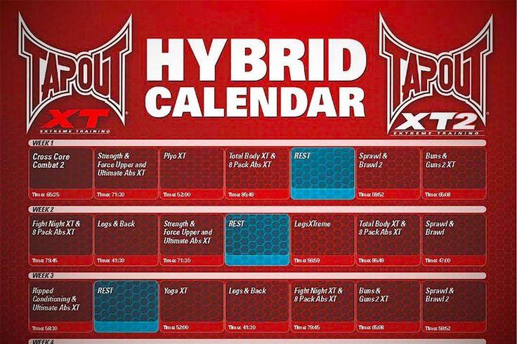 Tapout Xt Calendar tapout xt2 fitness program bonus xt towel dvds ...