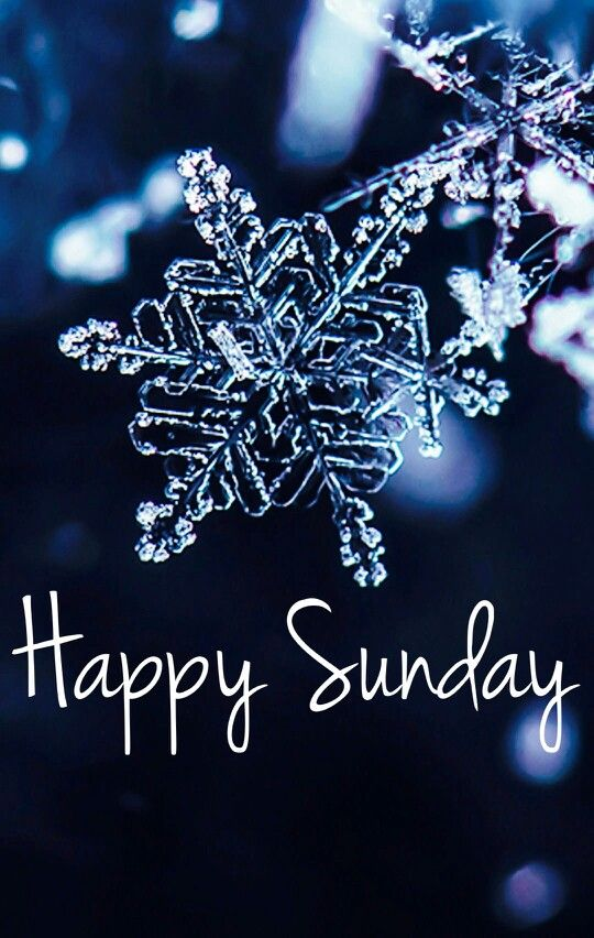 Happy snowflake Sunday
