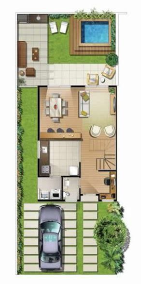 17 mejores ideas sobre modelos de casas modernas en for Modelos jardines para casas pequenas