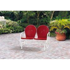 Patio Metal Bench Garden Outdoor Park Furniture Backyard Love Seat Porch Modern