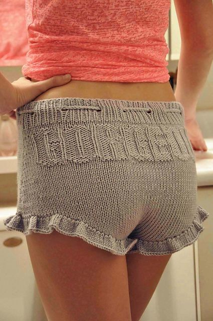 "Ravelry: ""Gorgeous Shorties"" Ruffle Shorts with Drawstring pattern by Lauren Riker"