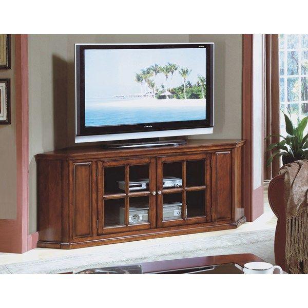 Monarch Specialties 62 Quot Oak Solid Wood And Veneer Corner