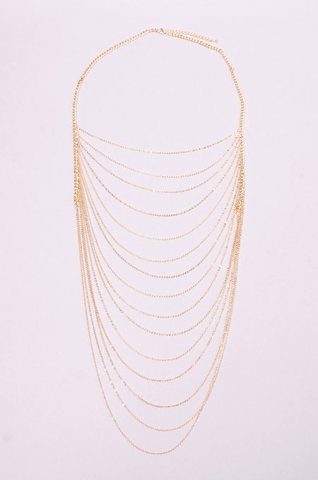 Layered Chain Set in Gold from shopaira.com