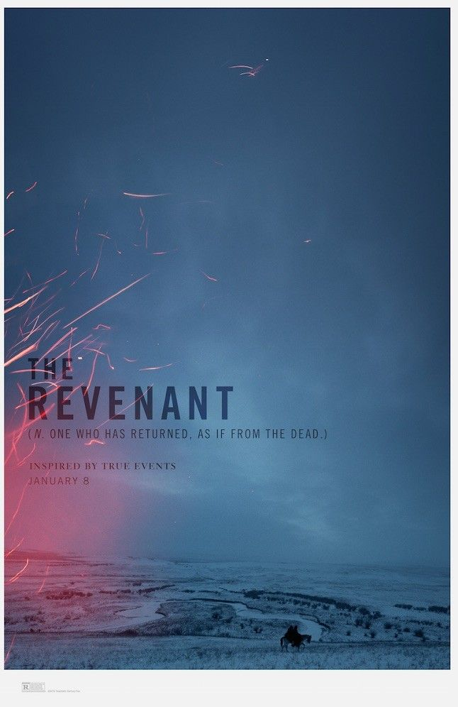 Someone's setting THE REVANANT poster on fire!