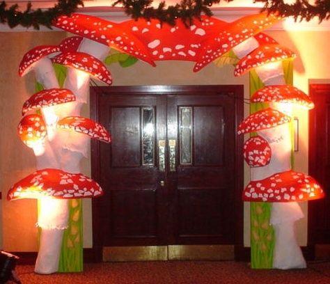black light mushroom  | mushroom entrance feature