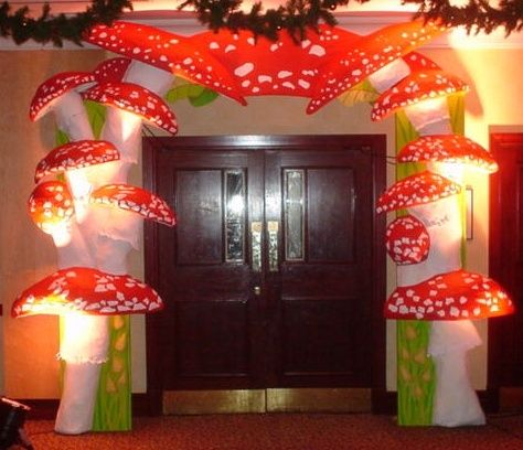 black light mushroom  | mushroom entrance feature
