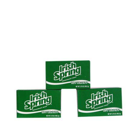 Irish Spring Bath Soap - Icy Blast Pack of 3 | Buy online at Householdmax .