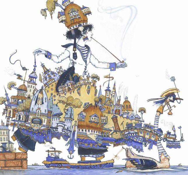 Петр Фролов -художник из  С.- Петербурга - Остров Piotr Frolov - Island