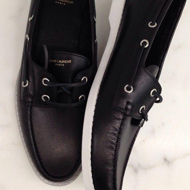Saint Laurent black boat shoes #wewantsale #saintlaurent #black