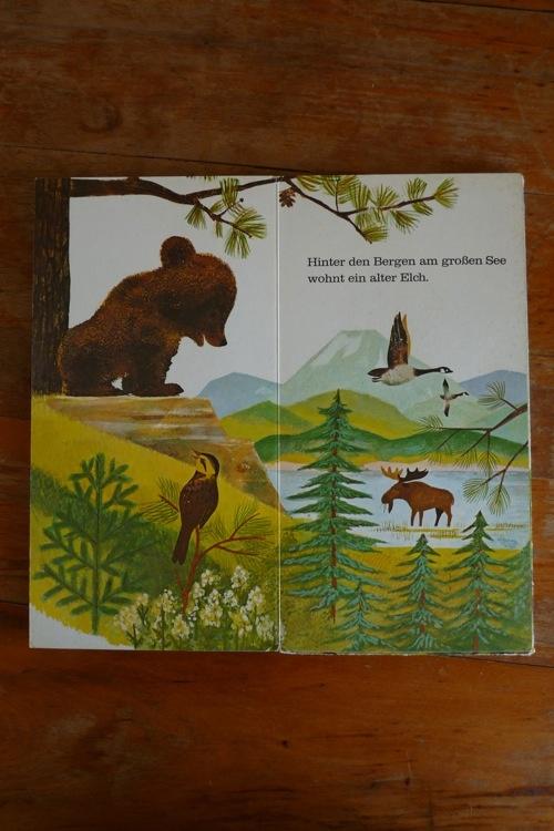 """Pictures from the picture children reading book """"ich bin das kleine Bärenkind""""    illustrations by: John P Miller"""