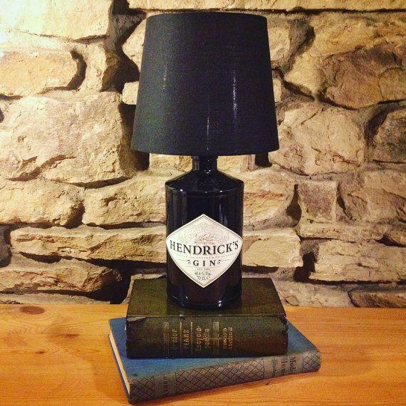 Hendricks Gin Bottle Lamp & Free Shade by BackFromTheDeadUk
