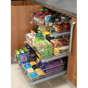 Individual Soft close pull out basket kitchen cuboard storage system 300mm