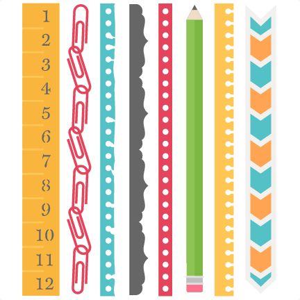 School Borders Set SVG scrapbook cut file cute clipart files for silhouette…