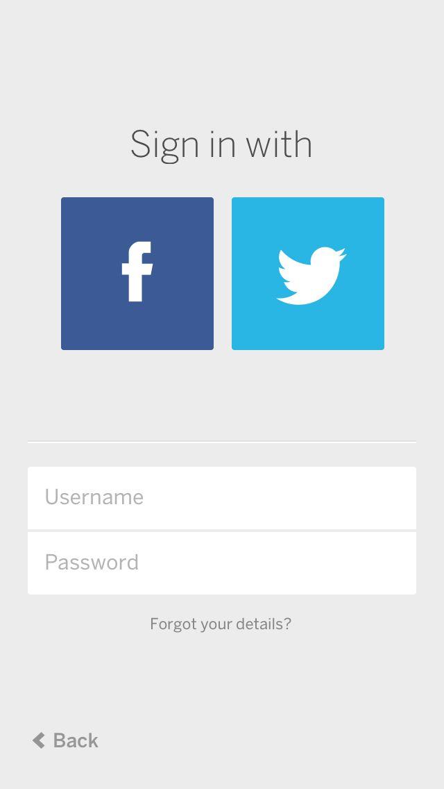 MySpace Sign in UI #UI #UX #clean #simple