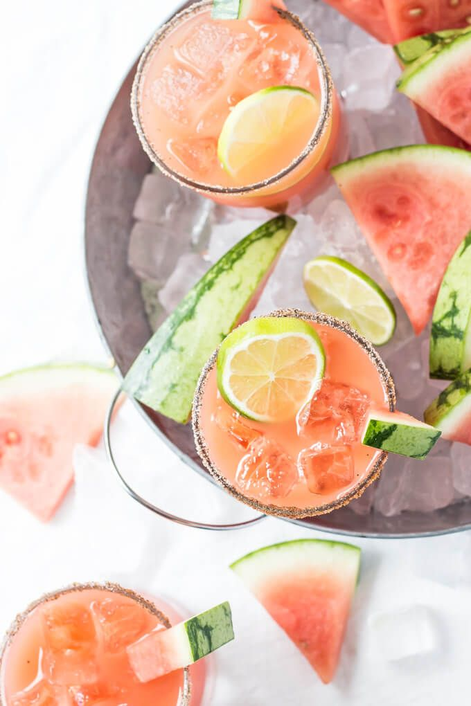 Salted Watermelon Margaritas
