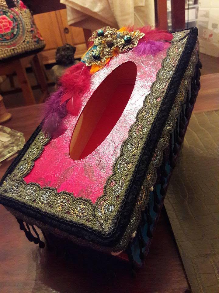 Boîte à mouchoirs de toute beauté Style Bohémien Modèle Unique : Boîtes, coffrets par shabbychicandco