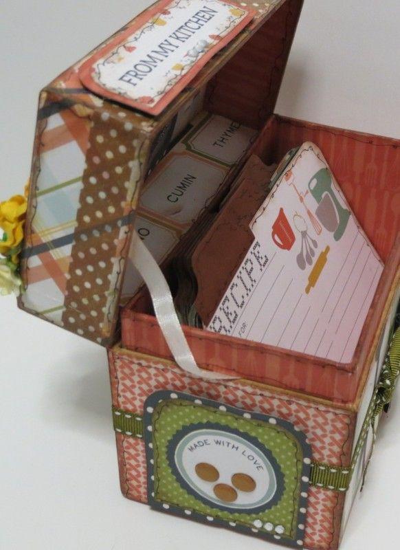 Tutorial Caja Recetario por Esmeralda