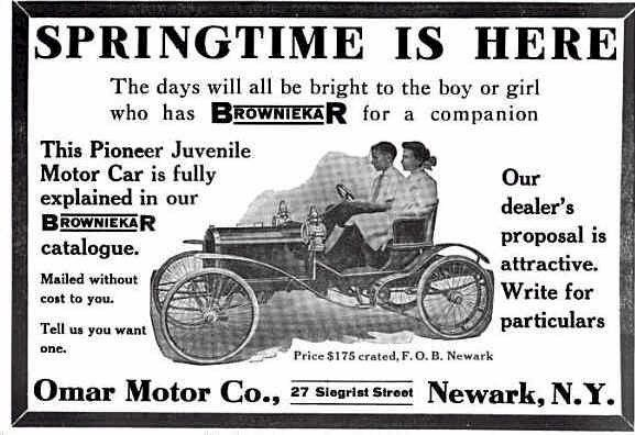 browniekar: Browniekar Advertising, Automobiles Advertis, 1909 Browniekar, Auto Advertising