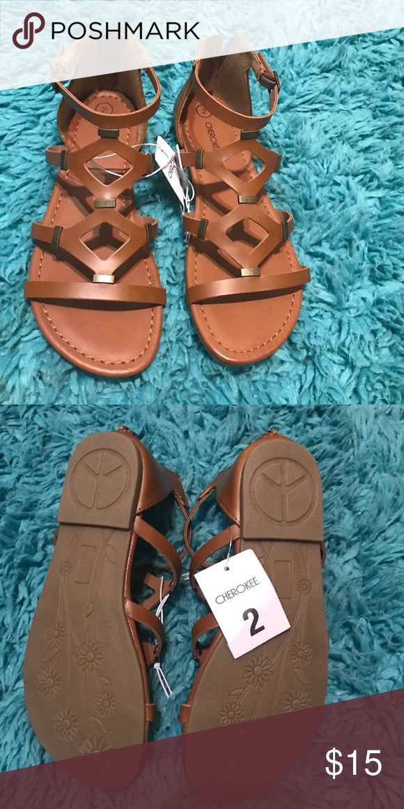 Girls Gladiator Sandals Brand new! Girls flat gladiator sandal. Never worn! Perfect for your little fashionista! Cherokee Shoes Sandals & Flip Flops